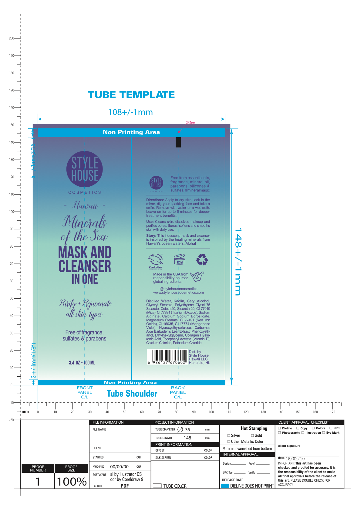 Mask and Cleanser Revised Label