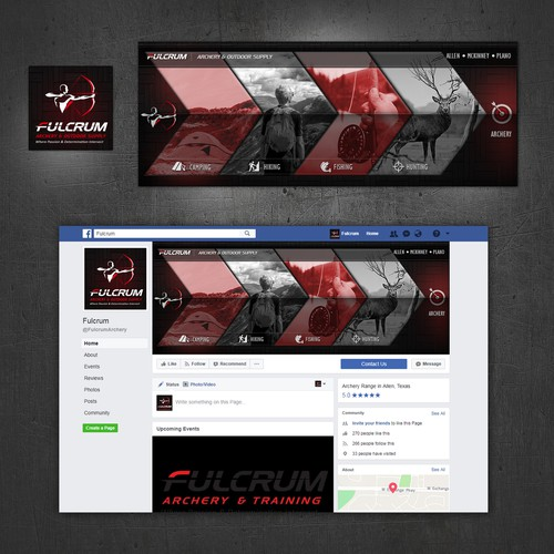 Facebook Cover Design for Archery domain