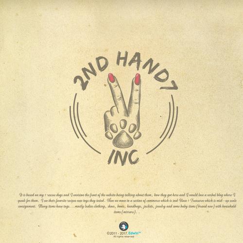 Bold logo design concept for dog company