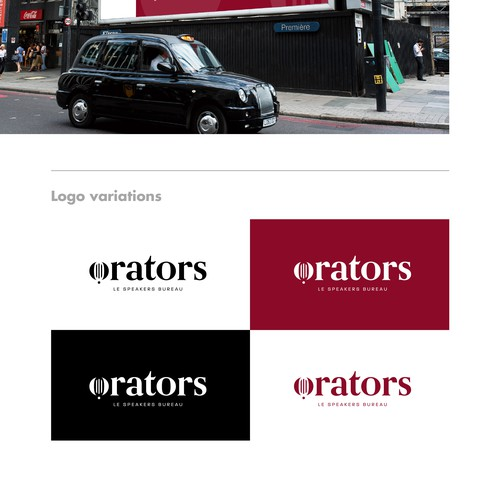 Strakes Logokonzept für Orators