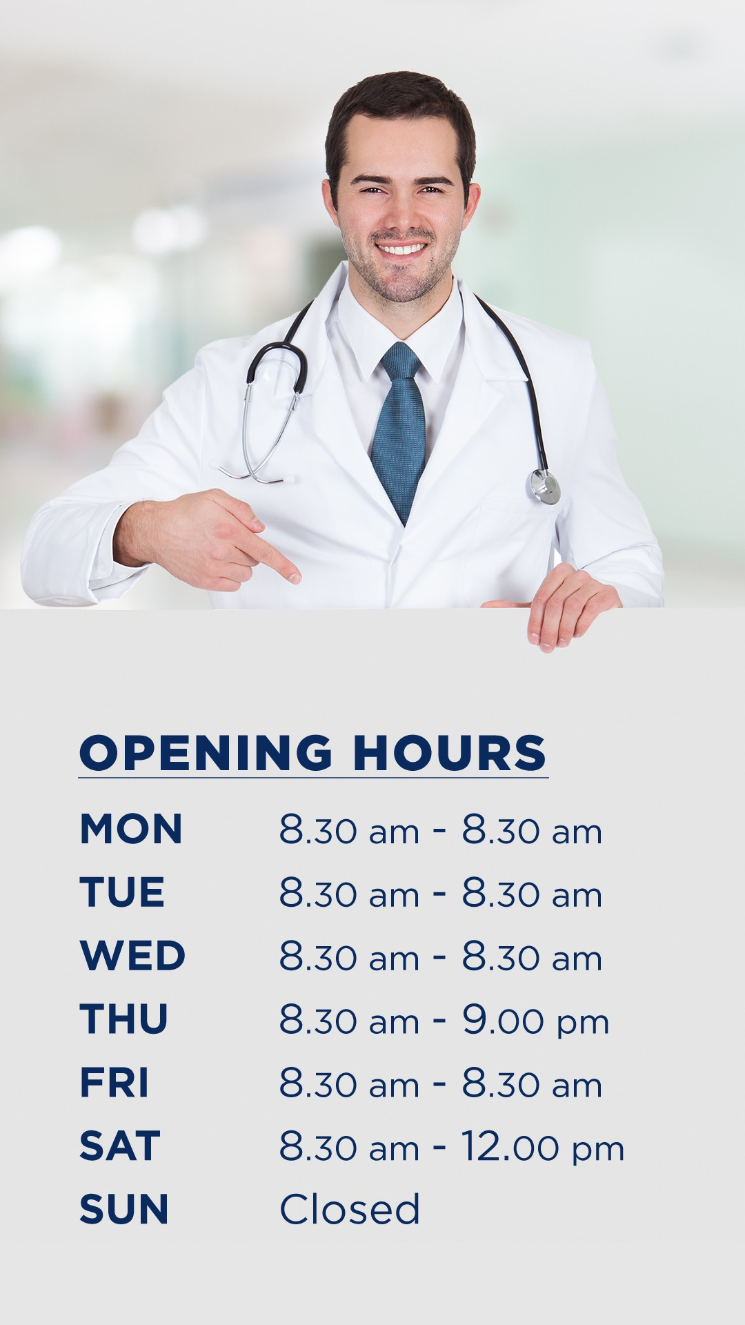 Practice Opening Hours Posters