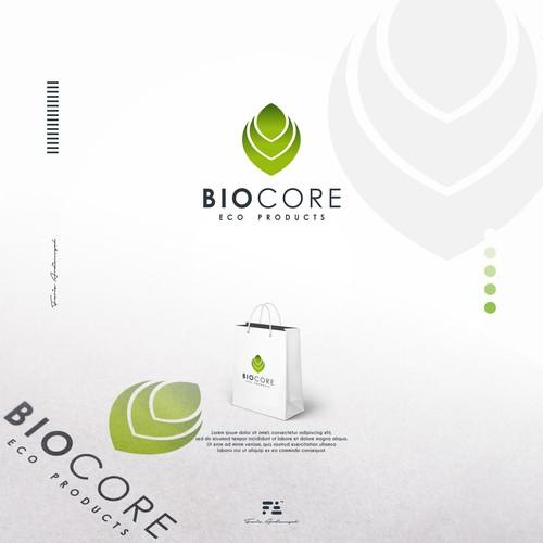 bioCore eco products Logo Concept