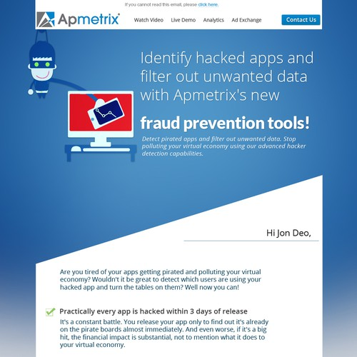 Apmetrix Email for New Feature - Detect Fraudulent App Downloads