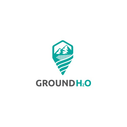 Flat logo for Ground H2O
