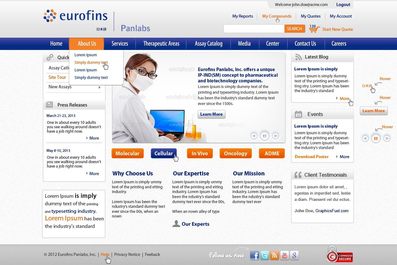 New Home Page Design for e-Commerce Site