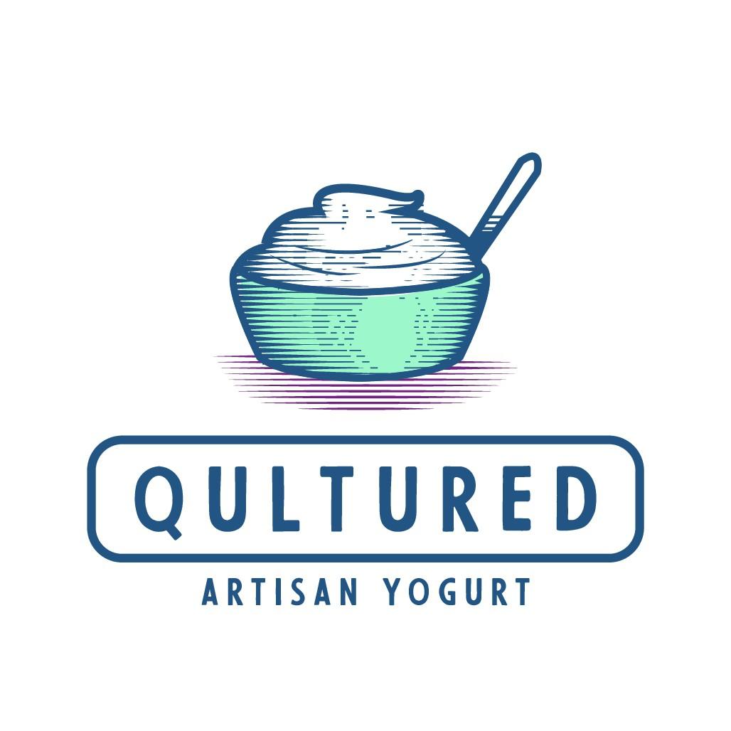 Out-of-the-box, eye catching, fresh logo design for craft artisan yogurt startup
