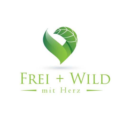 """Logo for """"free + wild with heart"""" be creative mate, be wild and show heart!"""