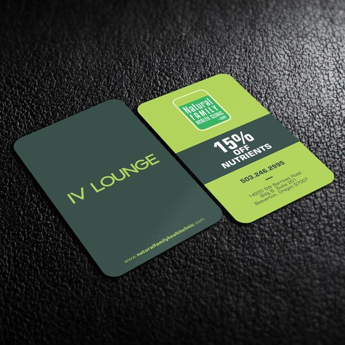 Integrated holistic health clinic business card