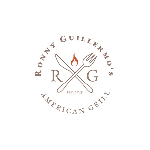 Classic Logo for American Grill Restaurant