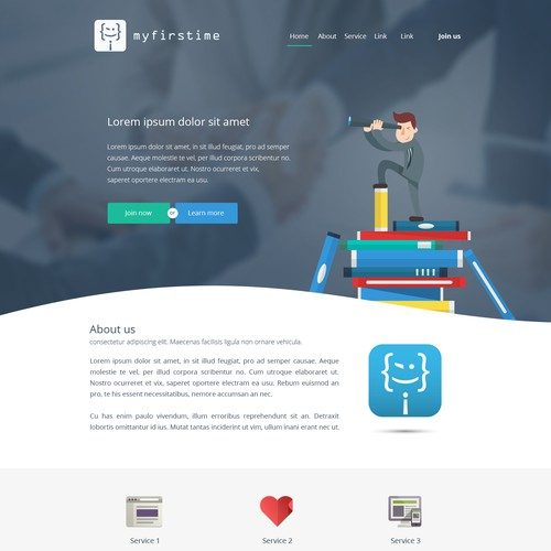 Landing page for a new project