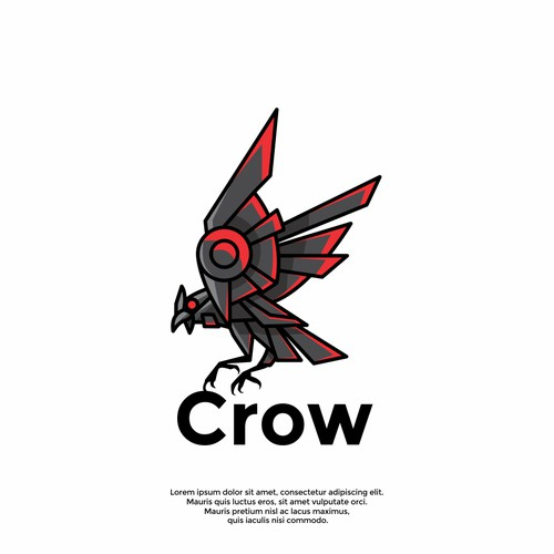 unique crow logo
