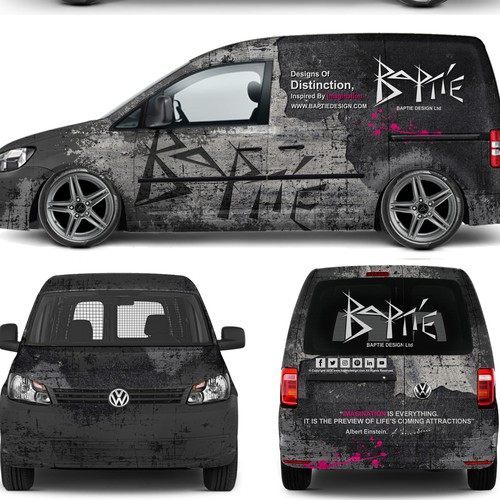 Grunge Van Wrap design