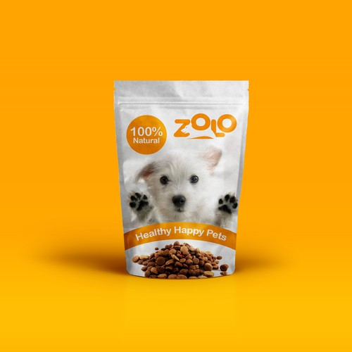 zolo healthy food pet logo design