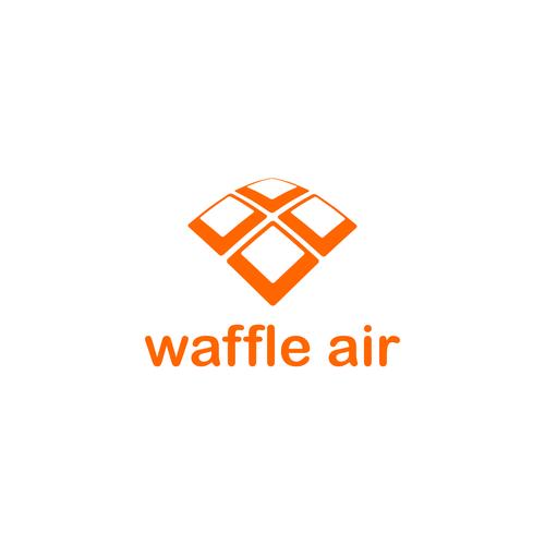 Create a logo for the anticipated waffle quadcopter