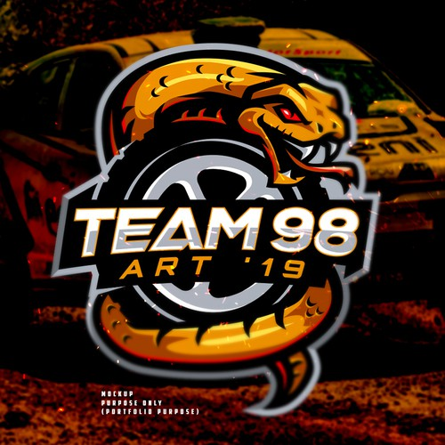 Team 98 Car Rally Logo