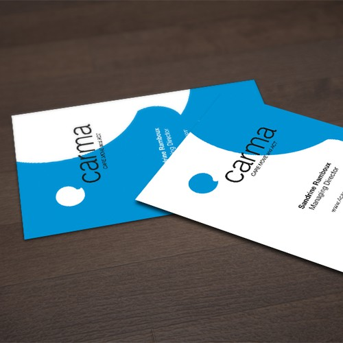 Create the next logo and business card for C@rma