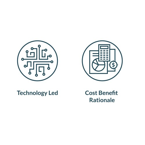 Line icons B2B energy company