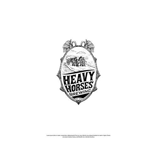 Hand drawn brewing logo