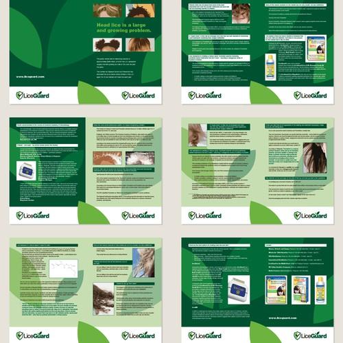 brochure design for LiceGuard LLC