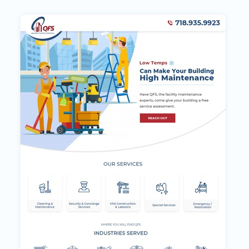 bold email marketing blast design for a Brooklyn based cleaning company