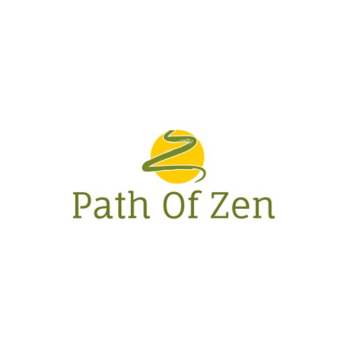 simple and quiet logo for personal growing and meditation service