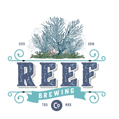 Vintage logo for brewing company