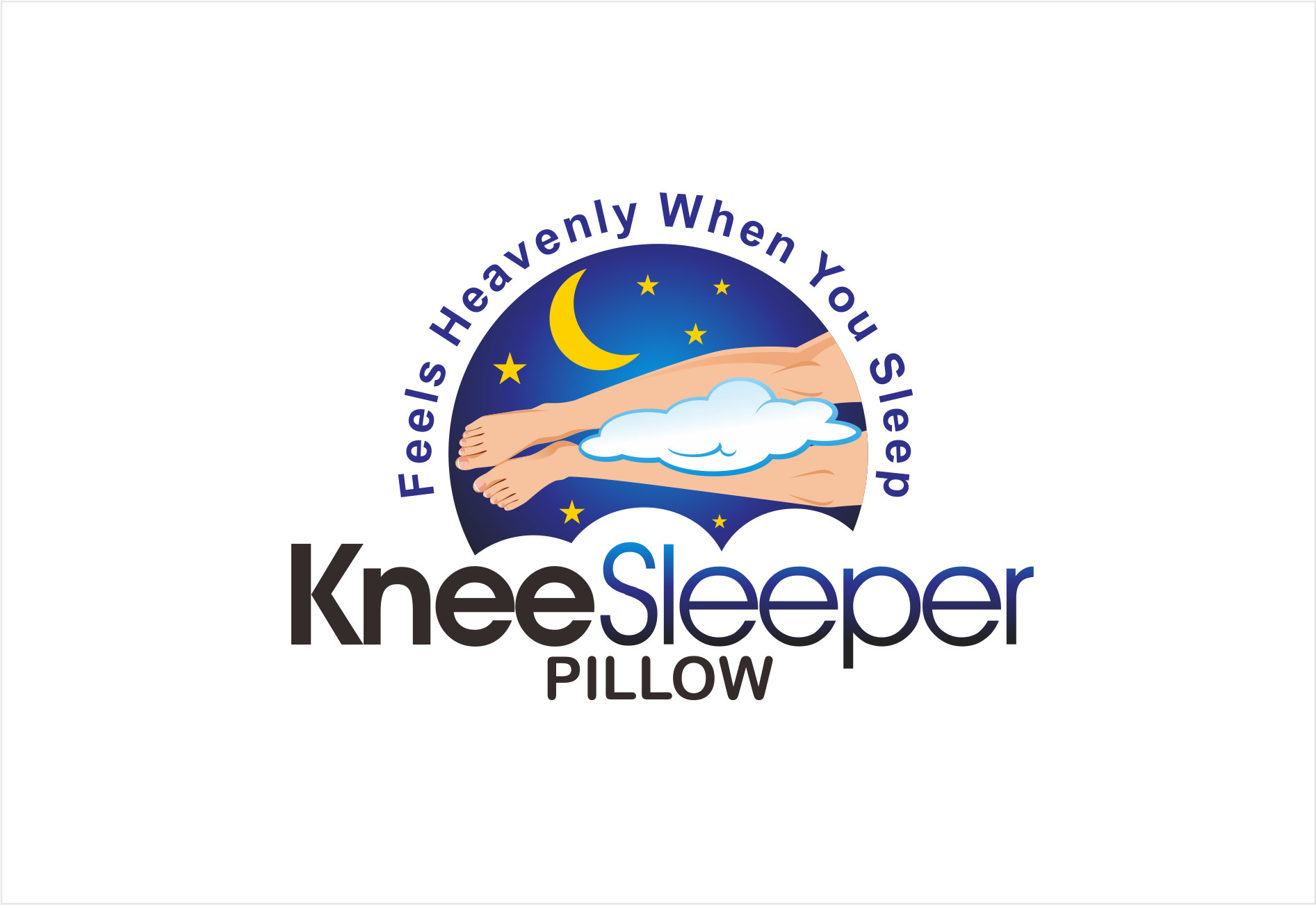 Create a product logo for the KneeSleeper!