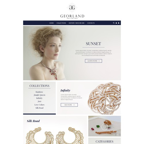 Jewelry Web Design Project