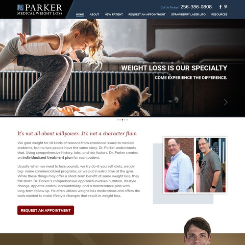 Website for Weight Loss Program