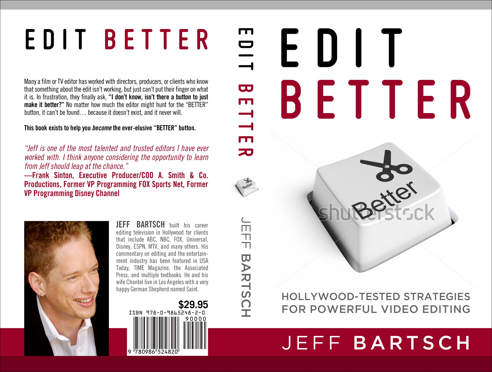 LA TV editor looking for bold, hip book cover.