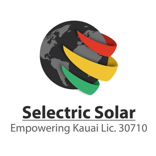 Selectric Solar logo design
