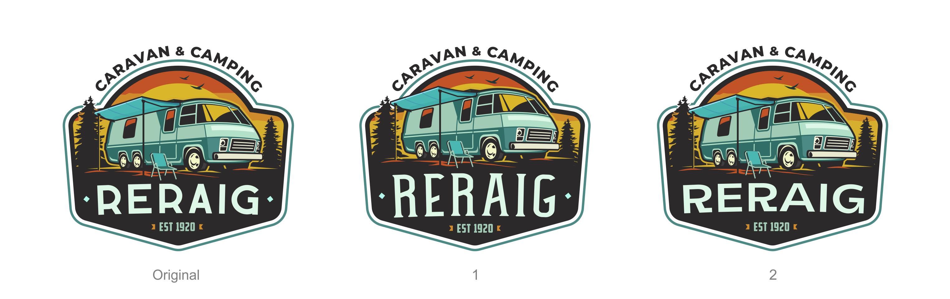 Retro RV camp logo for our new cool campsite!