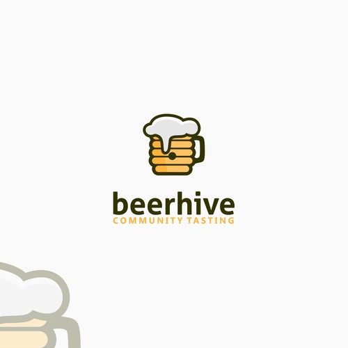 Create a logo for a new digital beer tasting community called the 'beerhive'