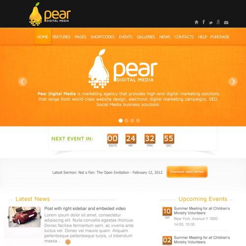 Create the next website design for Pear Digital Media