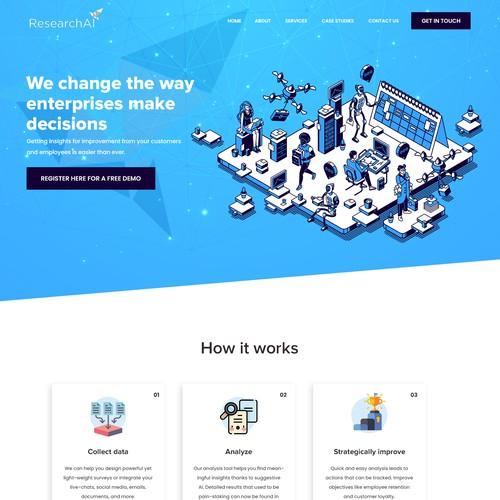 Enterprise SaaS landing page