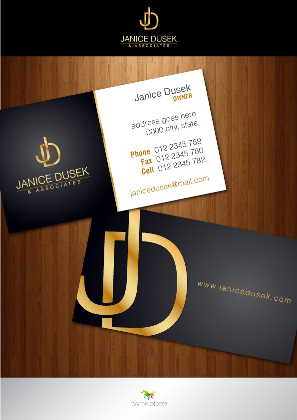 Create the next stationery for Janice Dusek & Associates