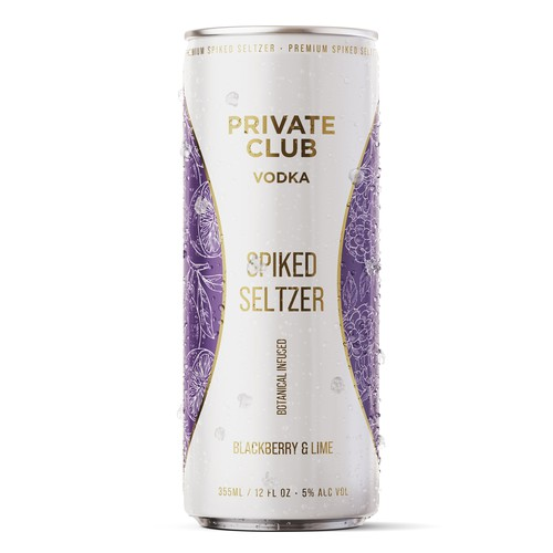 Label for spiked seltzer