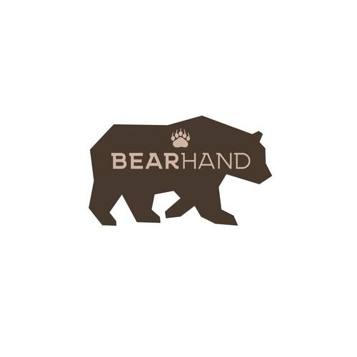 geometric bear logo