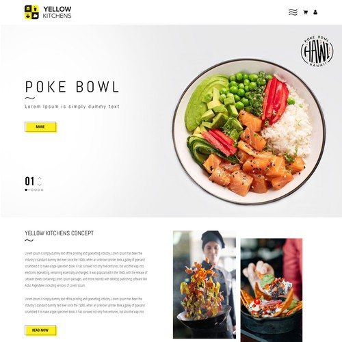 Restaurants Home page