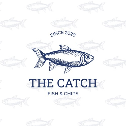 Modern but celebrating the past, logo for fish and chip business