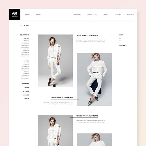 Fashion Boutique | Collections Page