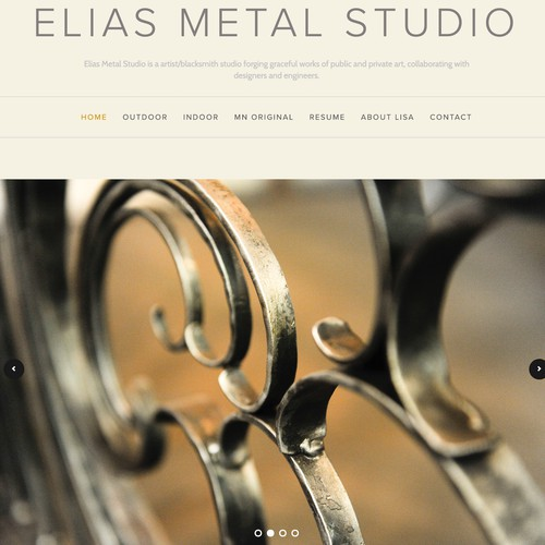 New website for a metal worker