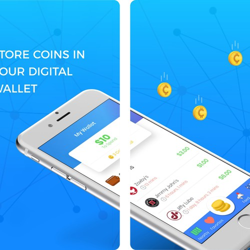 Appstore preview screen for Coinmo
