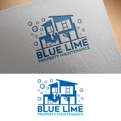 Blue Lime Logo Design