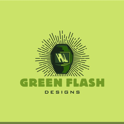 Green flash designs - welding company concept