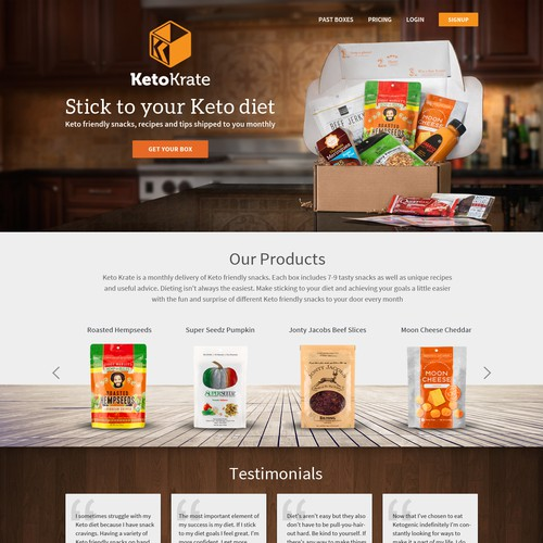 Home Page Design For Keto Krate