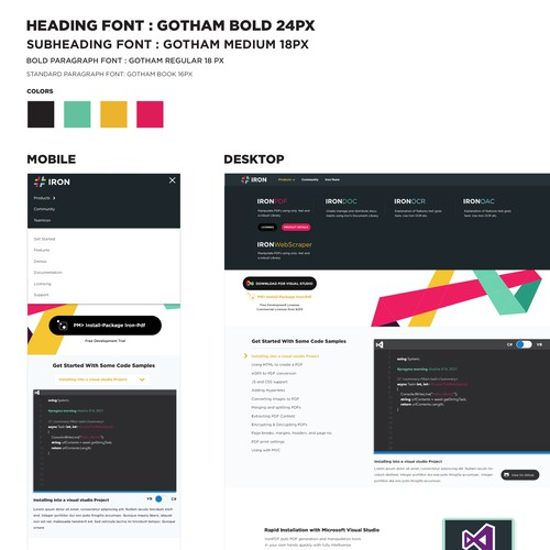 clean and bold design for a software company
