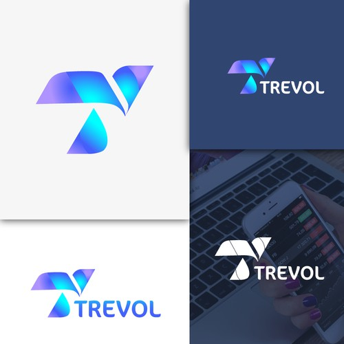 Logo concept for technologic business