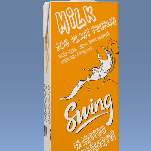 young, new veg-milk package design
