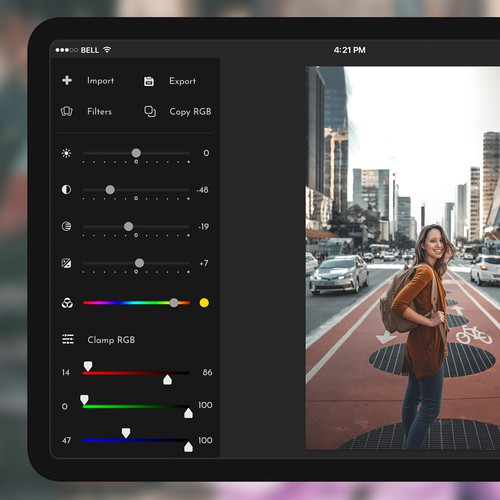 iPad photo editting